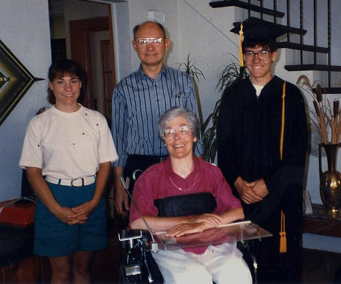 Murray Blackmore graduating high school